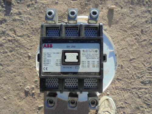 ABB EH-210 MOTOR STARTER CONTACTOR 300 AMP 110/120 COIL USED