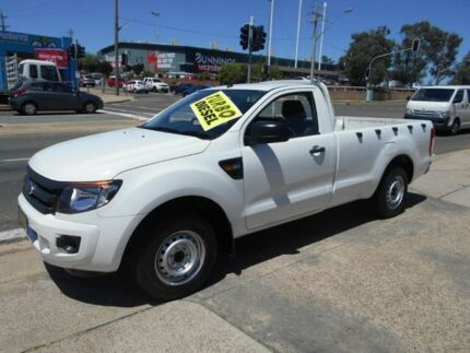 2013 Ford Ranger PX XL 4x2 White 6 Speed Manual Utility Fyshwick South Canberra Preview