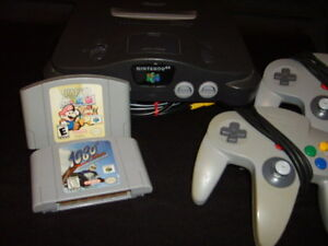 """""""N64 system, 2 controllers, 2 games"""""""