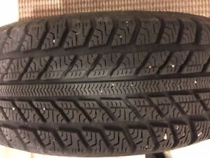 4 WINTER TIRES WITH RIMS/PNEU D'HIVER AVEC MAG