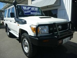 2014 Toyota Landcruiser VDJ76R MY13 Workmate White 5 Speed Manual Wagon Edwardstown Marion Area Preview