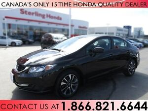 2015 Honda Civic EX | 1 OWNER | NO ACCIDENTS | SUNROOF | LOW KMS