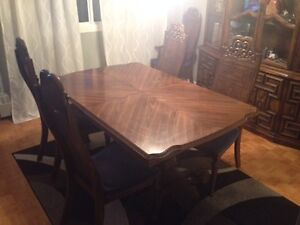Table Set with Chairs and China Cabinet (all real wood)