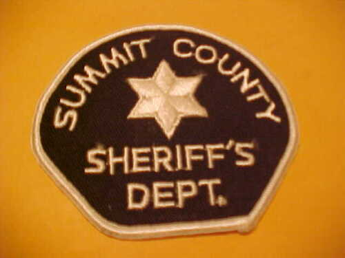 SUMMIT COUNTY UTAH POLICE PATCH SHOULDER SIZE UNUSED TYPE 2