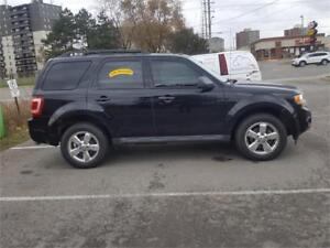 2010 FORD ESCAPE XLT V6 BLACK REMOTE START LEATHER,CHROME WHEELS