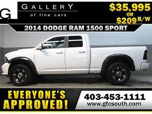 2014 DODGE RAM 1500 SPORT  *EVERYONE APPROVED* $0 DOWN $209/BW