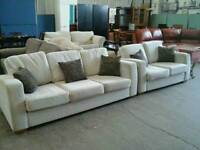 Light beige 2 and 3 seater in excellent condition