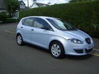 2005 05 SEAT ALTEA 1.6 REFERENCE 86000MLS MOT SEP 17 FSH 2 PREV OWNER ONLY £1395
