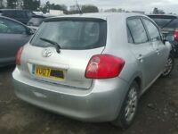 TOYOTA AURIS 2007 REG 1598 CC PETROL 5 SPEED SEMI AUTO 5 DOOR HATCH (BREAKING ALL PARTS AVAILABLE)