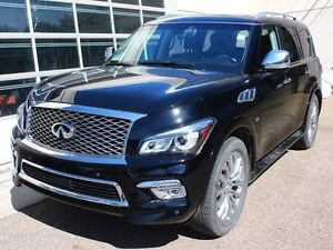2015 Infiniti QX80 TECHNOLOGY PACKAGE BLACK ON BLACK 1 OWNER FIN