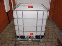 IBC 1000 Litre Purified Water Container in ESSEX very clean ready to store water for window cleaning