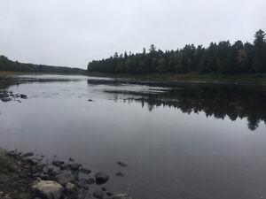 Fishing camp & salmon pools on Miramichi