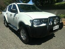 2012 Mitsubishi Triton MN MY12 GL-R (4x4) White 5 Speed Manual Dual Cab Hillcrest Port Adelaide Area Preview