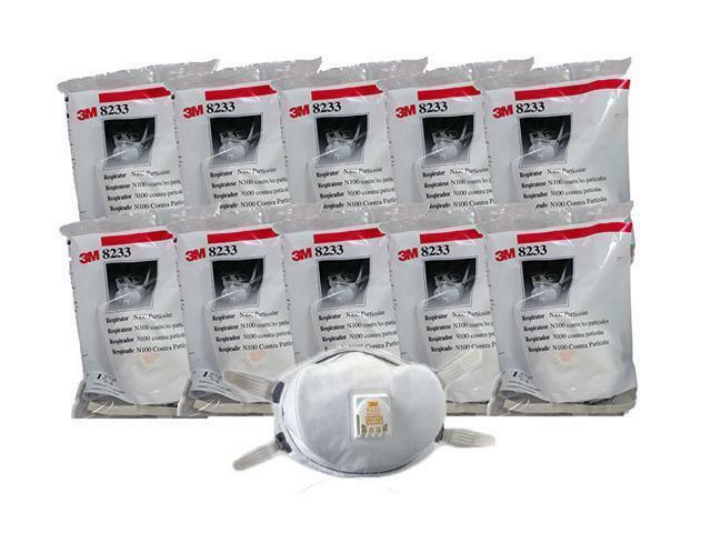 3M 8233 N100 Particulate Respirator, 10-Individually Sealed Masks, EXP. 07/2025 Business & Industrial