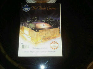 Mats Sundin Signed Last Night Maple Leaf Gardens Last Program