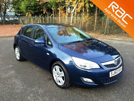 2010.60.VAUXHALL ASTRA 1.6 EXCLUSIVE.FIVE DOOR.METALLIC BLUE.