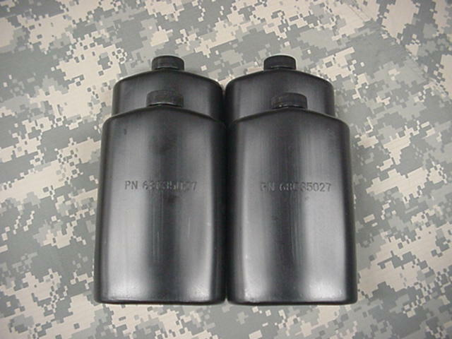 US MILITARY PLASTIC 1 PINT PILOT FLASK / CANTEEN, BLACK, 4 PACK