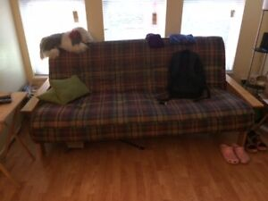 Futon couch and Lazy Boy recliner for donation