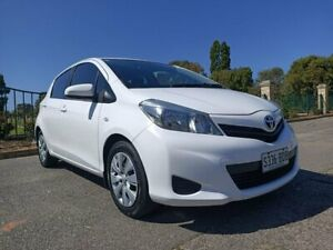 2012 Toyota Yaris NCP131R YRS White 4 Speed Automatic Hatchback Enfield Port Adelaide Area Preview