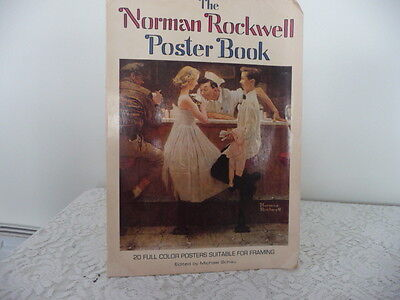 NORMAN ROCKWELL POSTER BOOK WITH 20 PRINTS FOR FRAMING   16 X 11 PRINTS SIZE