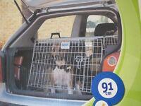 Dog car crate for hatchback or estate car