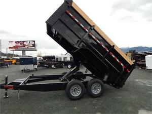NEW 7x14 14,000lb 4' HIGH SIDE MIRAGE DUMP TRAILER