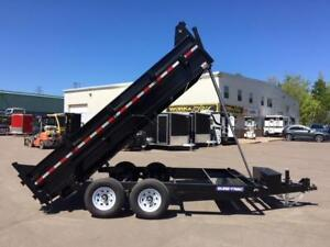 "NEW 2018 SURE-TRAC 82"" x 14' HD LOW PROFILE DUMP TRAILER"