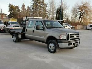 2006 FORD F-350 CREW CAB FLAT DECK DUALLY 4X4 6 SPEED DIESEL