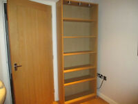 Ikea Billy Bookcase (oak finish) with 3 integrated lights