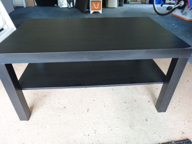 Ikea Black Coffee Table AND Black/Glass Large TV Stand ( Two Items ) - Ikea Black Coffee Table AND Black/Glass Large TV Stand ( Two Items