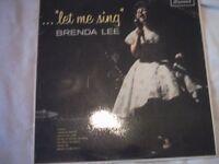 Vinyl LP Brenda Lee Let Me Sing Brunswick LAT 8548 Mono 1963