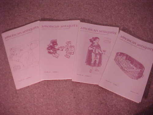 Complete set of 4-1990 American Antiquity-Journal Society American Archaeology