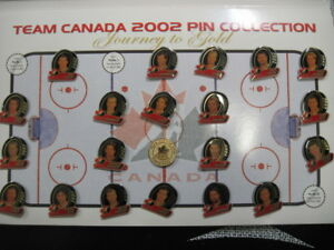 Team Canada 2002 collector pins