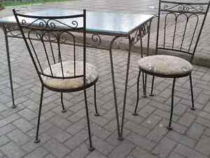 Hauser wrought iron chairs