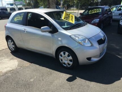 2008 Toyota Yaris NCP91R YRS Silver 4 Speed Automatic Hatchback Lidcombe Auburn Area Preview