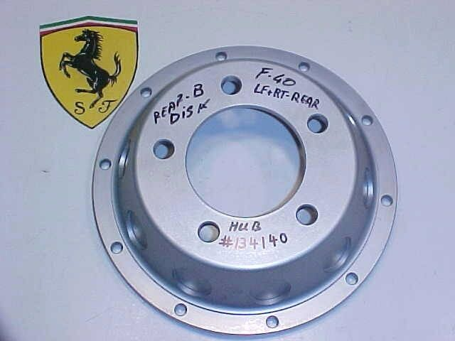 Ferrari F40 Center Brake Disc Rotor Hub Flange_134140_Rear_BRAND NEW_OEM