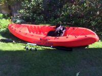 Ocean Kayak Frenzy plus seat, paddle and buoyancy aid