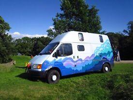 Ford Transit Camper Van LWB High Top MOT until July 2017