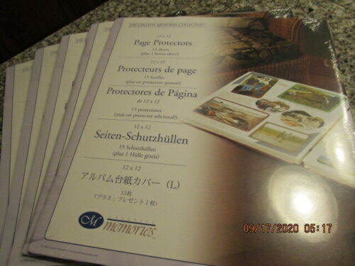 5 PACKAGES Page Protectors 15 Sheets EACH Creative Memories 2004