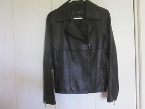 Ladies Black leather jacket, size small