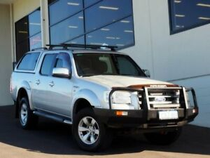2008 Ford Ranger PJ XLT Crew Cab Silver 5 Speed Automatic Utility Myaree Melville Area Preview