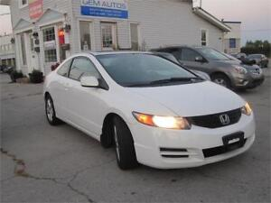 2010 Honda Civic Cpe LX Clean Carproof 1 Owner Sunroof Coupe