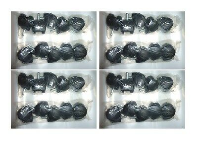 40 New Office Chair Casters Wheels Swivel Floor Furniture Replacement Plastic