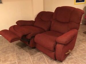 FREE - love seat with dual recliners