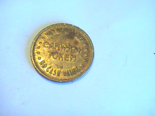 TOKEN CASHWASH TOKEN ANTIQUE AUTO NON REFUNDABLE NO CASH VALUE