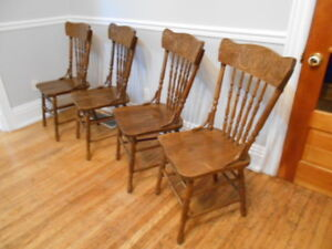 4 Solid Maple Pressback Reproduction Chairs. 4 for $50!