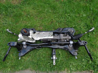 AUDI S3 8V 2014 COMPLETE SUBFRAME CRADLE WITH STEERING RACK STABILISER AND MOUNTS