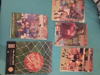 Various Aston Villa Match Programmes from 1993 to 1994