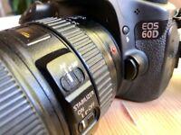 Canon 60d plus EF 24-105 L IS USM 1:4 lens