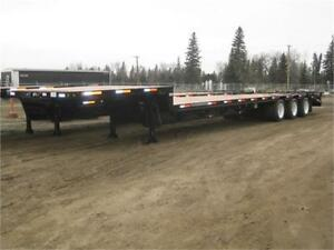 New Tecumseh tri axle step deck with beaver tail
